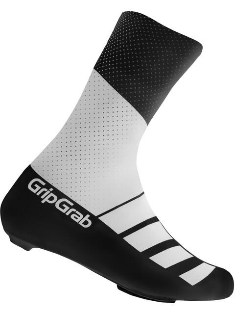 GripGrab RaceAero TT Raceday Lycra Shoe Cover white/black